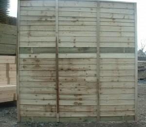Shiplap Fence Panel Garden Fencing